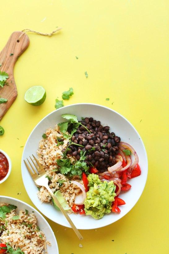 http://minimalistbaker.com/cauliflower-rice-burrito-bowl/